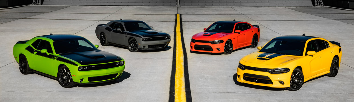 2017 Dodge Charger Daytona and Dodge Challenger T/A models