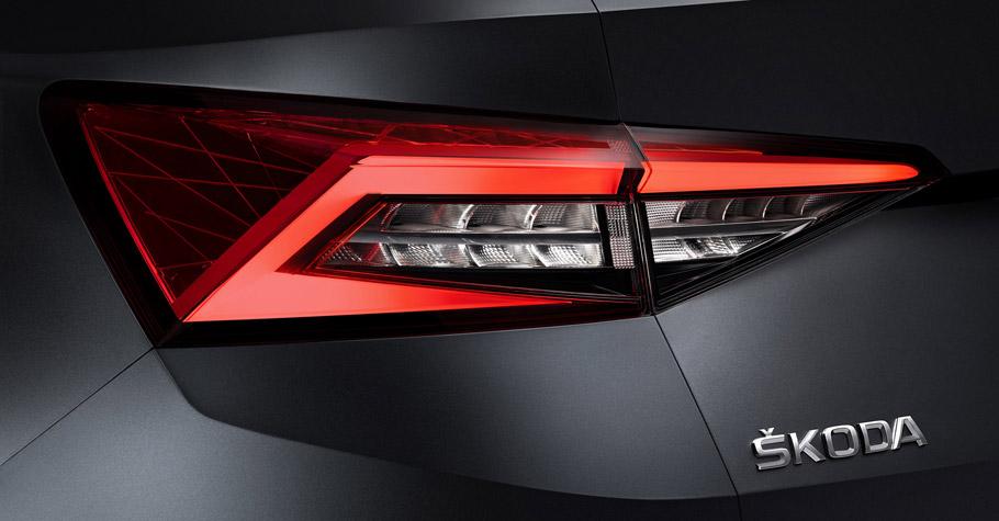 Skoda Kodiaq rear view - tail lights