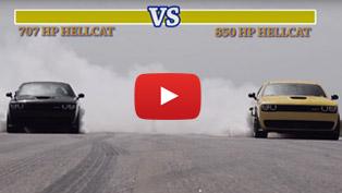 street fight mode: 707 hp hellcat versus 850 hp hennessey hellcat [w/videos]