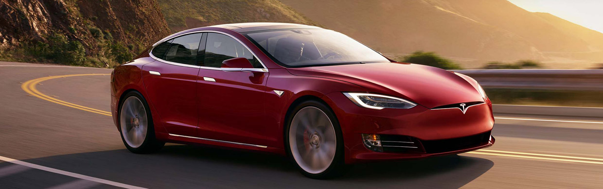 Tesla Model S P100D side view