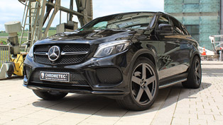 mercedes gle coupe touched by chrometec? yes, please!