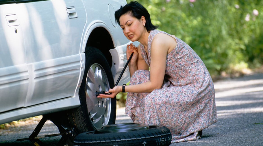 Changing Flat Tire