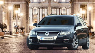 vw passat r36 becomes even more appealing!  sportfahrwerke team showcases how!