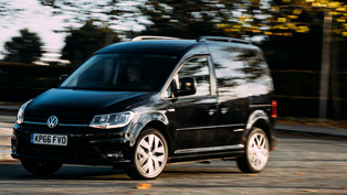 black and limited: vw caddy brings some style to the streets