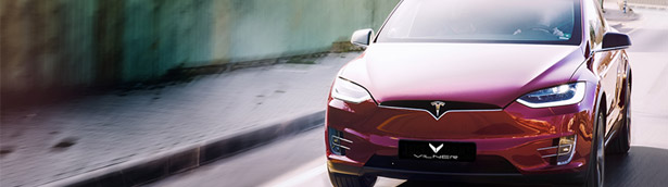 Tesla Model X and a touch of Vilner magic. Pure eye candy