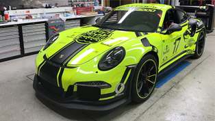 BlackBox team showcases a Porsche 911 that glows in the dark! How cool is that?