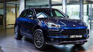 larte design's depiction of a porsche macan suv: masterfully executed
