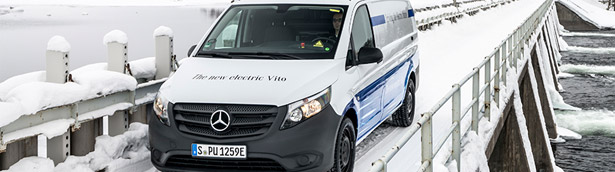Even the Scandinavian Winter Cannot Scare the Mercedes eVan! Details here!