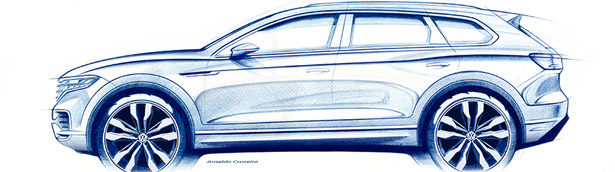 2018 Touareg sketches and promises: what should we expect?
