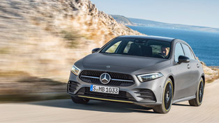 mercedes team showcases the new a-class models