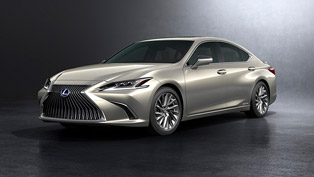 lexus showcases the new es model