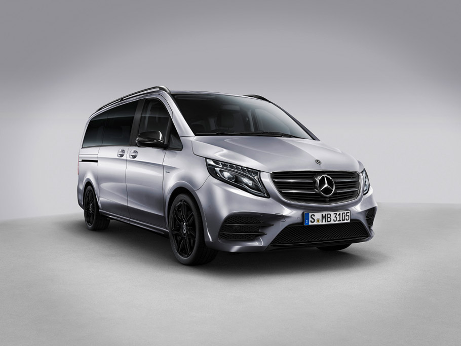 mercedes unveils v class night edition model. Black Bedroom Furniture Sets. Home Design Ideas