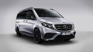 Mercedes showcases  new Night Editions of the V-Class