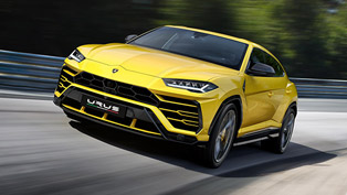 Lambo team reveals the latest Urus SUV at prestigious auto event