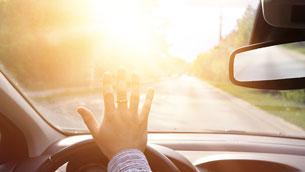 dangerous windshield glare