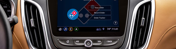 Order pizza wile driving - Chevy's Marketplace makes it easy!