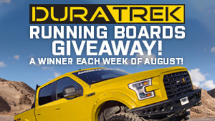 truck running board giveaway sponsored by duratrek