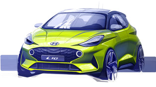 Hyundai reveals first sketch of new i10 model