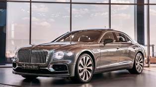 Bentley team unveils new Flying Spur at the Moscow City towers!