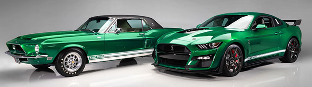 Two restored Shelby legends debut together along with a 2020 GT500