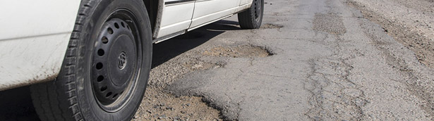 How potholes can affect drivers this winter