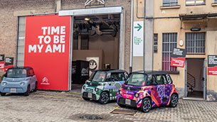 citroen turns heads at milano design city with 'time to be my ami'