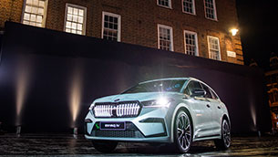 skoda celebrates uk premiere of the new enyaq iv in electric avenue