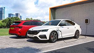 Electrifying new Skoda Octavia vRS iV charges