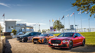 a performance-focused showcase of bentleys for goodwood speedweek