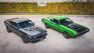 Iconic pair of Restomod muscle cars head to auction