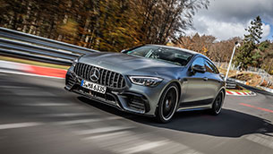 mercedes-amg gt 63 s 4matic+ is the fastest luxury class vehicle on the nordschleife