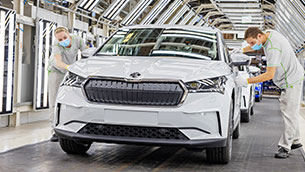 ŠKODA AUTO launches series production of the Enyaq iV at its main plant in Mladá Boleslav