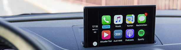 What is Audi Apple CarPlay useful for?