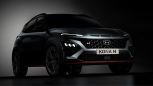 hyundai reveals new images of the all-new kona n sports suv