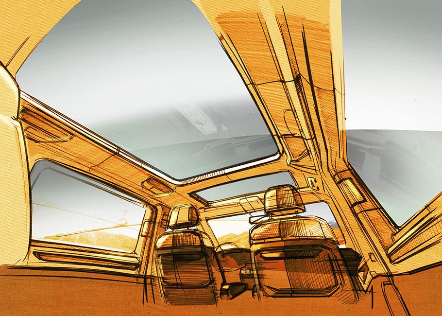 2021 Volkswagen Multivan Sketches