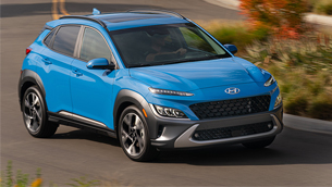 New Hyundai Kona is in the Ten Best Cars for Recent College Graduates list
