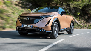 new nissan ariya goes for a ride at the monaco street circuit for its public driving debut