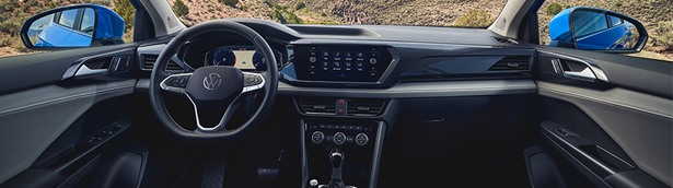 New 2022 VW Taos comes with a modernized and functional interior design