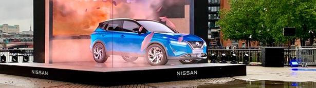 Nissan showcases a neat digital performance in London [VIDEO]