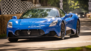 maserati takes the new mc20 for a ride at the goodwood festival of speed