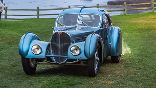 Legendary 1936 Bugatti Type 57SC Atlantic Wins J.B. & Dorothy Nethercutt Most Elegant Closed Car