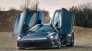 Automobili Pininfarina showcases new Battista hyper car at the Monterey Car Week festival