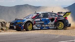 Driver Travis Pastrana sets a new record with a fine-tuned 2020 Subaru WRX STI