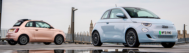 New Fiat 500 is named Best Small Electric Car by Parkers